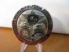 World Police & Fire Games Fairfax Virginia National Capital Challenge Coin #199D