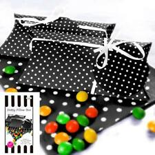 10 Black and White Polka Dot Favour Boxes With Gift Tags/Favours/Party Supplies