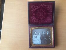 WOW - SUPERIOR LARGE GROUP DAGUERREOTYPE Sixth Plate Dag of a Family of Four