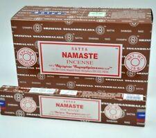 India's best Satya Nag Champa Namaste scent dhoop Incense Sticks Agarbatti 12Pk