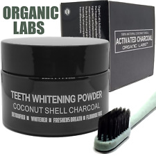 ACTIVATED CHARCOAL TOOTHPASTE TEETH WHITENING POWDER 100% NATURAL FOOD GRADE