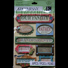 K & COMPANY FAMILY STICKERS SW Winget Nature Word Mother Father Sister Brother