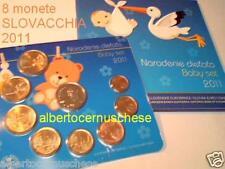 2011 8 monete euro SLOVACCHIA Slovaquie baby set bebe