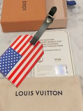 *CERTIFIED* Louis Vuitton FIFA World Cup 2018 USA flag Leather LV Luggage Tag