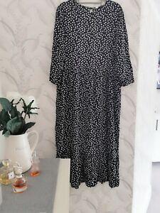 Zara Black And White Polka Dot Spotted Dress  Size XL