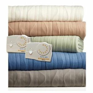 Biddeford Comfort Knit Electric Heated Blankets Queen