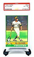 1976 Topps #620 Pittsburgh Pirates AL OLIVER Vintage Baseball Card PSA 6 EX-MT