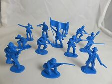 IMEX Civil War Confed. cannon crew, and Infantry 1/32 -Medium blue, Toy Soldiers
