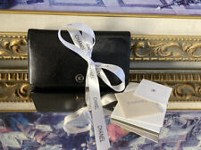 CHANEL Authentic Caviar Black Leather Logo Wallet
