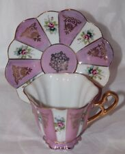 Shafford Hand Decorated JAPAN Purple Pink  Rose Flowers Tea Cup & Saucer