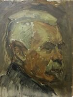 Impressionist Sigurd Wandel 1875-1947 Attributed - Portait Mann Man - Head