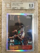 RAY ALLEN 1996-97 TOPPS CHROME REFRACTOR ROOKIE CARD RC #217 BECKETT BGS8.5 MINT