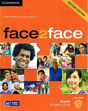 CAMBRIDGE Face2face Starter SECOND EDITION Student's Book with DVD-ROM @New@