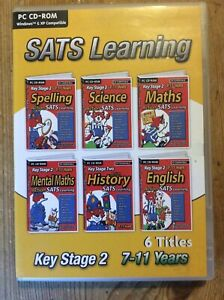 SATS Learning Key Stage 2 7-11 Years 6 Titles English, Maths, Science PC CD-ROM