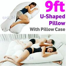 9ft U Shape Pillow With Case Large Pregnancy Maternity Full Body Back Support