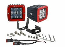 R 4D OZ-USA® POD Spot Phillips LED lights RED fog atv offroad 3x4 race truck