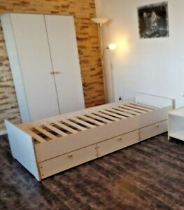 Jugendzimmer Kinderzimmer kojenbett Jugendbett Kleiderschrank Set WEIß NEU 18 mm