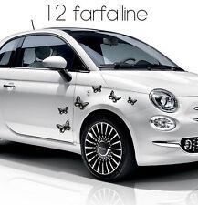 adesivo adesivi stickers tuning auto farfalle farfalla fiat 500 smart a0022