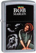Zippo 2018 Bob Marley Jamaican Singer Street Chrome Windproof Lighter 29572 NEW