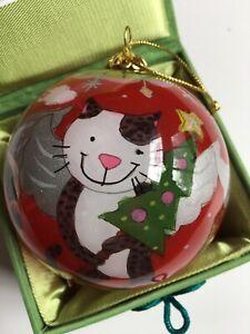 "2010 Cat & Dog & Lamb Pier 1 Imports Li Bien Ornament 3"" Diameter"