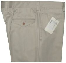 $925 NEW BRIONI COTTON CASHMERE KHAKI TWILL MENS CASUAL DRESS PANTS E 54 36