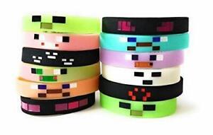 MINING PIXELATED Bracelets Kids Birthday Party Favors - (12 pk)