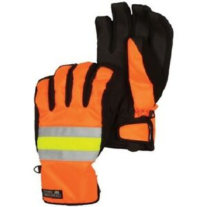 Men's 686 Six Eight Six Safety Insulated Gloves Ski Snowboard Orange Yellow L XL