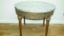 Vintage French Coffee Table With Marble Top