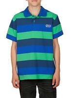 Jungen Poloshirt gestreift Blockstreifen Polo Shirt T-Shirt Shirt 100% Baumwolle