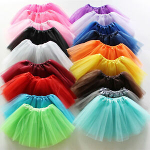 Toddler Kids Girl Tulle Tutu Princess Dress Ballet Dancewear Costume Party Skirt