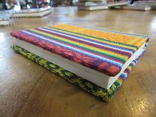 Bhutanese Traditional Fabric 30page Note Book Handmade paper 9x11 cm