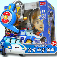 Robocar Poli Voice Control Vehicle Toy Car Headset Characters Children Kids Gift