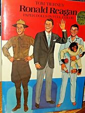 Tom Tierney Papier Poupées Ronald Reagan Dover Paquet Avec / Nancy non Ouvert