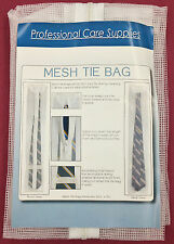"2 Laundry Wash Mesh Zipper Tie Net Bags 30 x 5 1/4"" Protects Tie during Cleaning"