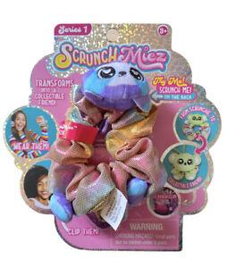 ScrunchMiez Series 1 Mozzie Sea Lion Purple Blue Multicolor Hair Scrunchy Clip
