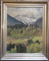 ::FRIEDRICH WIRNHIER *1868 -1952 ÖLGEMÄLDE ALPEN HÜTTEN IM GEBIRGE MÜNCHEN ANTIK