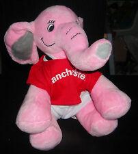 "MANCHESTER UNITED TEDDY SHERINGHAM PINK ELEPHANT MASCOT 8"" PLUSH TOY"