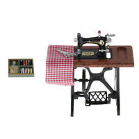 1:12 Scale Dollhouse Sewing Machine Kit Furniture Life Scene Toys Playset