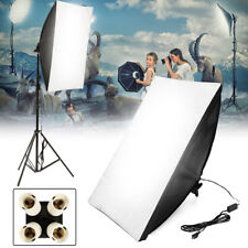 Photo Studio Lighting Softbox 50*70 Photography Kit  + 4 in1 E27 Socket Lamp Sof