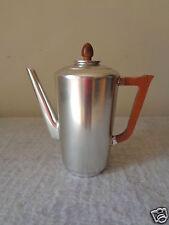 Vintage Kensington Art Deco Retro Aluminum Hollowware Coffee Pot W/ Wood Handle