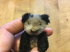 Adorable Vintage Tiny Mohair Schuco Noah's Ark Panda Miniature Teddy Bear Sweet!