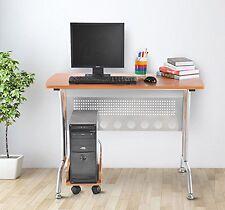 HOMCOM – Scrivania da Ufficio con Porta PC in Legno MDF e Ferro 105 × 55 × 76cm