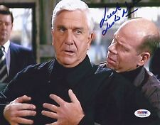 LESLIE NIELSEN SIGNED 'THE NAKED GUN' FRANK DREBIN 8X10 PHOTO PSA/DNA COA