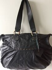 ACCESSORIZE real leather soft slouchy dark green underarm shoulder handbag