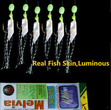 10packs Sabiki Bait Rigs Saltwater Freshwater Real Fish Skin Sabiki Fishing Lure