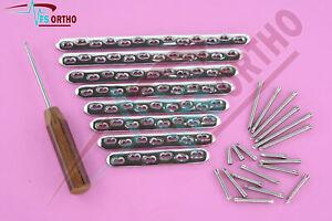 4.5mm Broad Locking Plates Screws & Screw Driver Set of 116Pcs Orthopedic