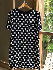 Lovely MARCS Navy White Spots Short Sleeve Shift Dress Size 4 XS EUC