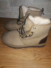 UGG Australia Men's Harkley Waterproof Desert Tan Leather Boots 1094395 Size 9
