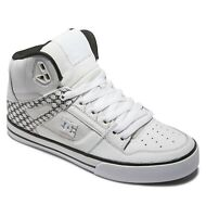 DC SHOES MENS PURE HI TOPS BOOTS.NEW BOXED WHITE HIGH REAL LEATHER TRAINERS S21
