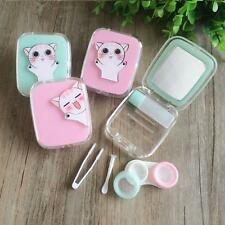 Contact Lens Case  Protable CuteTravel Kit Storage Box with Mirror for Eyes Set